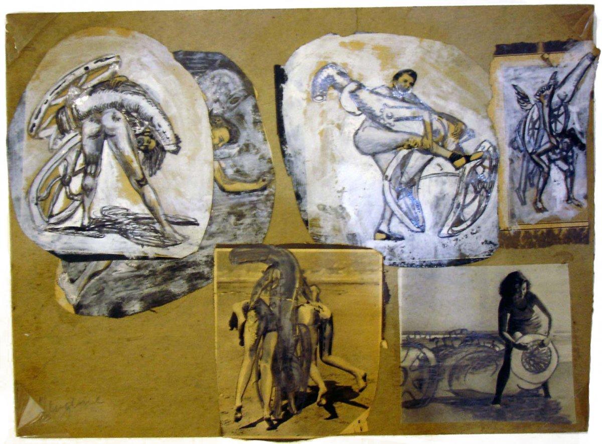 David Smith, Untitled (Study for 'Propaganda for War'), 1938. (c) Estate of David Smith/VAGA, NY.