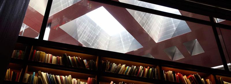 Vista del techo de la biblioteca