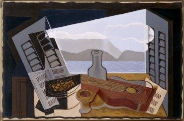 Juan Gris (José Victoriano González Pérez). La fenêtre ouverte (La ventana abierta), 1921 (enero-marzo). Óleo sobre lienzo, 66 x 100 cm