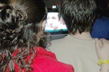 Visionado de una de las videocreaciones. Museo Reina Sofía, 2007