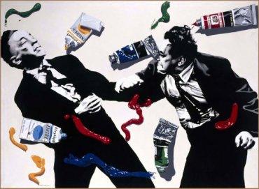 Equipo Crónica. Pintar es como golpear, 1972. Acrílico sobre lienzo, 152 x 202 cm