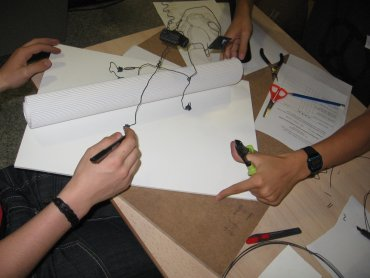 Trabajos realizados durante la actividad. Museo Reina Sofía, 2009