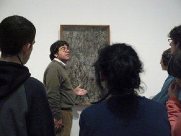 Encuentro del Equipo con Luis Pérez Oramas. Museo Reina Sofía, 2009.