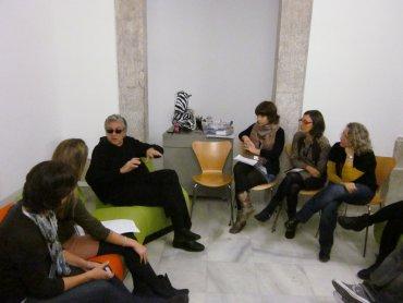 Miembros de Equipo conversan con el artista Antoni Muntadas, 2011