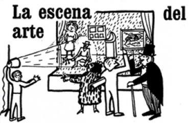 Juan Antonio Ramírez. La escena del arte.Dibujo publicado en Ecosistema y explosión de las artes.Barcelona, Anagrama, 1994