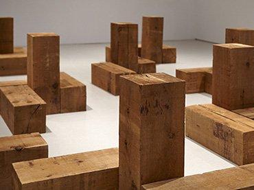 Vista de la sala de la exposición. Carl Andre. Escultura como lugar, 1958 – 2010, 2015