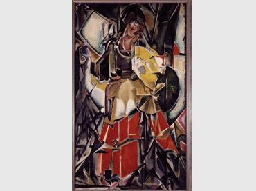 María Blanchard. Woman with fan, 1916. Oil on canvas Museo Reina Sofía Collection