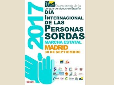 Cartel del Día Internacional de las Personas Sordas