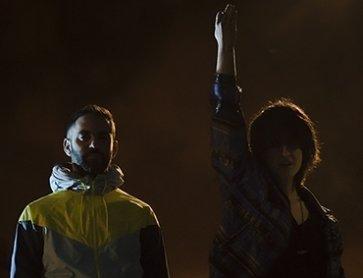 Fran MM Cabeza de Vaca y María Salgado en Jinete Último Reino Frag. 3 © Jorge Mirón, Madrid, 2017