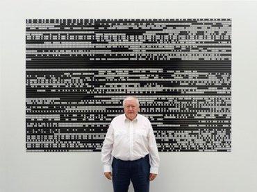 Peter Kubelka, ante su película Arnulf Rainer (1960), 2016