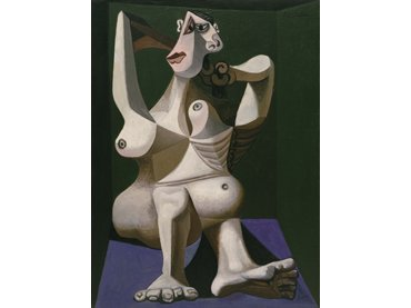 Pablo Picasso. Woman Dressing Her Hair, Royan, June 1940. Oil on canvas. New York, Museum of Modern Art (MoMA). Louis Reinhardt Smith Bequest, 1995. © 2017. Digital image, The Museum of Modern Art, New York/ Scala Florence. © Sucessión Pablo Picasso, VEGAP, Madrid, 2017