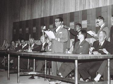 Mário Fontenelle. Congreso de la AICA en Brasilia. Fotografía, 1959
