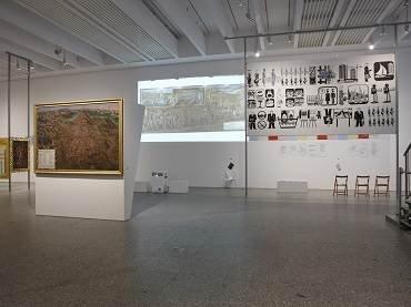 Vista de sala de la exposición Principio Potosí. ¿Cómo podemos cantar el canto del Señor en tierra ajena?, 2010