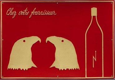 Marcel Broodthaers. Chez votre fournisseur (Le Vinaigre des Aigles) (En su proveedor [Vinage de las Águilas]), 1968. Arte gráfico. Colección Museo Nacional Centro de Arte Reina Sofía, Madrid