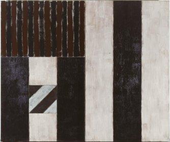Sean Scully. Black Robe, 1987. Pintura. Colección Museo Nacional Centro de Arte Reina Sofía, Madrid
