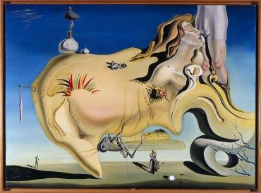 Salvador Dalí. Visage du Grand Masturbateur (Rostro del Gran Masturbador), 1929. Pintura. Colección Museo Nacional Centro de Arte Reina Sofía, Madrid