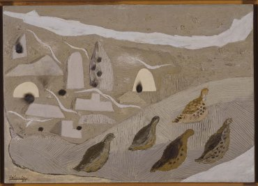 Benjamín Palencia. Tierras silúricas / Las perdices, 1931. Pintura. Colección Museo Nacional Centro de Arte Reina Sofía, Madrid