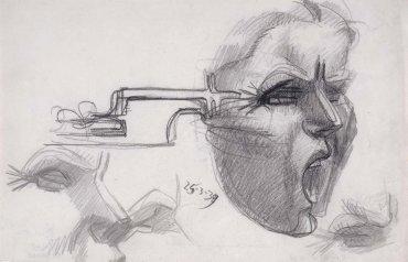 Julio González. El grito, 1939. Drawing. Museo Nacional Centro de Arte Reina Sofía Collection, Madrid