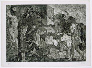 Pablo Picasso. Minotauromaquia, 1935. Arte Gráfico. Colección Museo Nacional Centro de Arte Reina Sofía, Madrid