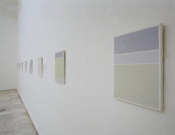 Exhibition view. Ángel Guache. Poemas geométricos, 2001