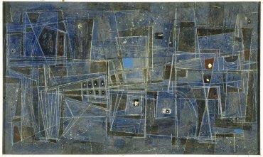 Luis Feito. Pintura (Painting), 1955. Painting. Museo Nacional Centro de Arte Reina Sofía Collection, Madrid