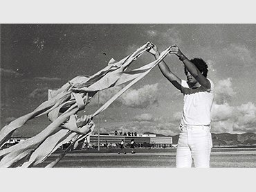 Artur Barrio. P…H…1969. Situación realizada en el exterior del MAM Museo de Arte Moderno de Rio de Janeiro. Archivo Artur Barrio. Fotografía de César Carneiro