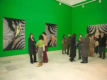 Vista de sala de la exposición Victoria Civera. Bajo la piel, 2005