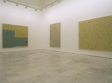 Vista de sala de la exposición. Alejandro Corujeira. La tarea del paisaje, 2002
