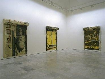 Exhibition view. Atul Dodiya. E.T. y los otros, 2002