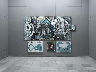 Vista de sala de la exposición. Luis Gordillo. Iceberg Tropical, 2007