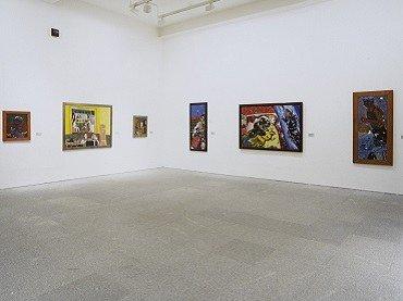 Vista de sala de la exposición. R. B. Kitaj. Un americano en Europa, 1998