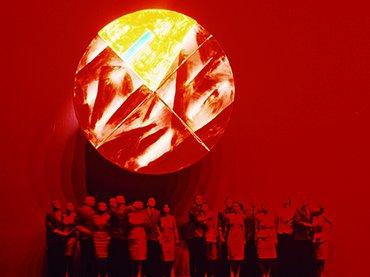 Evento retroguardista Bautismo bajo el Triglav, Teatro de las Hermanas de Escipión Nasica, 1986 Fotografía de  Marko Modic