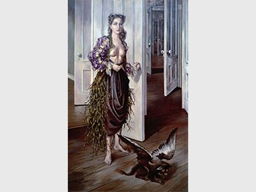 Dotothea Tanning, Birthday, 1942, Oil on canvas, Philadephia Museum of Art © VEGAP, Madrid, 2018