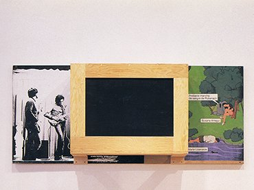 Txomin Badiola. Bañiland 6, 1990-1992. Painting, wood, construction, plastic and serigraphy. A. Trullenque Collection