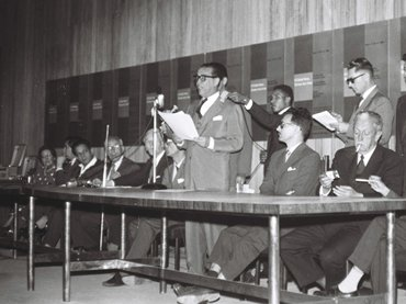 Mário Fontenelle. Congreso de la AICA en Brasilia. Fotografía, 1959