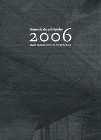 Memoria de actividades 2006