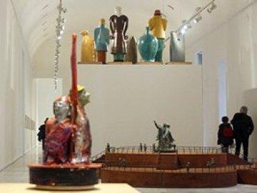 Sala de la exposición dedicada a Thomas Schütte. Museo Reina Sofía, 2010