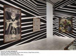 Vista de sala con obra de Wilfredo Lam y Diego Rivera