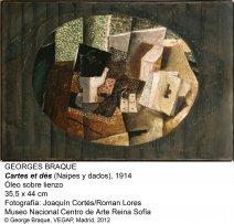 Georges Braque. Cartes et dés, 1914