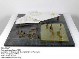 Ambiente de despedida. Matal, plexiglás y madera, 1959