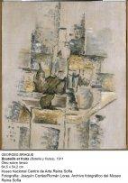 Botella y frutas (1911). Georges Braque