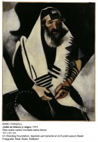 Marc Chagall. Jew in Black and White, 1914