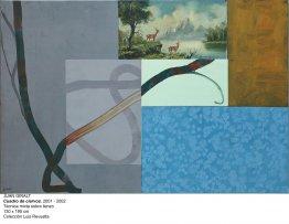 Juan Giralt. Cuadro de ciervos. Técnica mixta sobre lienzo, 2001-2002