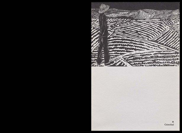 VV. AA., Versos para Antonio Machado, París: Ruedo Ibérico, 1962. Ilustración, Cristóbal Aguilar, s/p. Fondos del Centro de Documentación del Museo Nacional Centro de Arte Reina Sofía (RESERVA 4751)