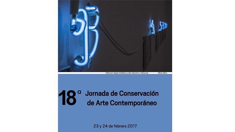 Cartel 18ª Jornada de Conservación de Arte Contemporáneo