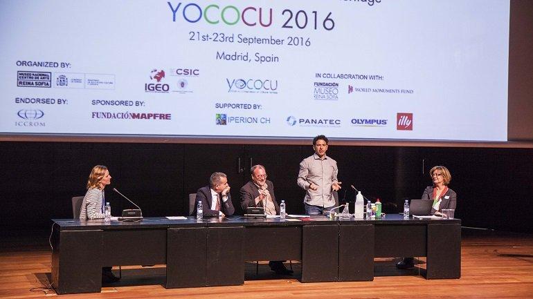 Apertura, Pablo Jiménez (Mapfre), João Fernandes (Museo Nacional de Arte Reina Sofía), Andrea Macchia (YOCOCU), Natalia Pérez (YOCOCU España) y Mónica Álvarez (YOCOCU 2016)