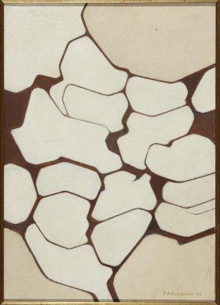 Pablo Palazuelo. Temps clair (Tiempo despejado), 1959. Acrílico y óleo sobre lienzo, 57,3 x 40 cm