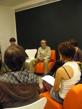 Encuentro del Equipo con Isidoro Valcárcel Medina. Museo Reina Sofía, 2009.