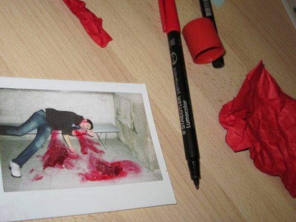 Documentación y ficción en el trabajo de un alumno participante. Museo Reina Sofía, 2011.