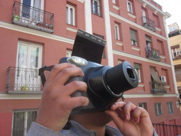Un alumno capta instantáneas de Lavapiés, 2011.